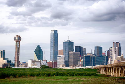 Dallas Skyline Photograph - Dallas Storm by Rospotte Photography
