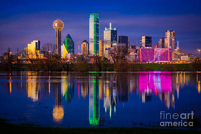 Dallas Photograph - Dallas Trinity River Reflection by Inge Johnsson