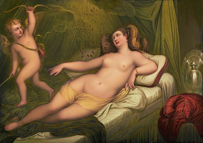 Danae Painting - Danae After Titian by Henry Bone