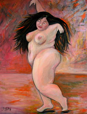 Fat Painting - Dance by Annette Dion McGowan
