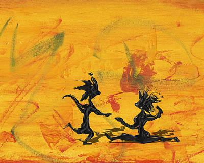 Mixed Media - Dance Art Dancing Couple 238 by Manuel Sueess