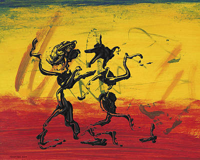 Beach Painting - Dance Art Dancing Couple Xii by Manuel Sueess