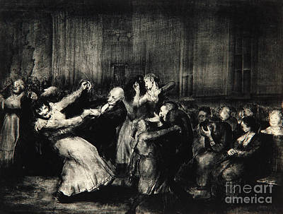 Dance In A Madhouse Print by George Wesley Bellows