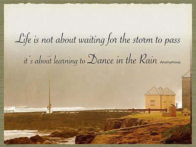 Dance In The Rain Print by Diane Merchant