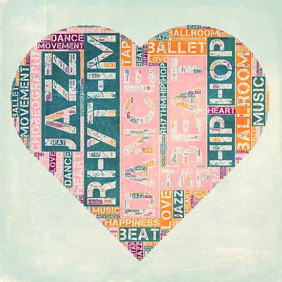 Ballroom Mixed Media - Dance Love by Brandi Fitzgerald