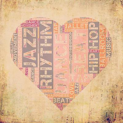 Ballroom Mixed Media - Dance Love V3 by Brandi Fitzgerald