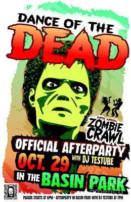 Eureka Springs Digital Art - Dance Of The Dead 2016 Poster by Jeff Danos