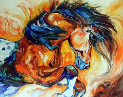 Dance Of The Wild One Print by Marcia Baldwin
