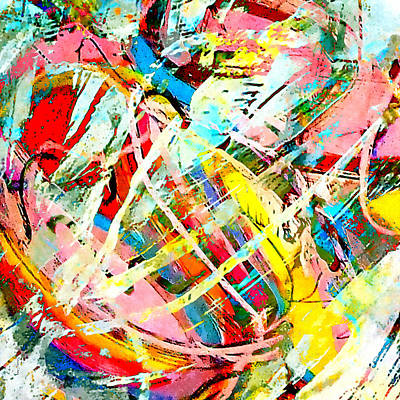 Abstract Movement Mixed Media - Dance by Stacey Chiew