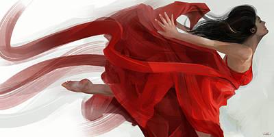 Graceful Digital Art - Dance by Steve Goad
