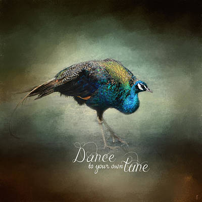 Peacock Photograph - Dance To Your Own Tune - Peacock Art by Jai Johnson