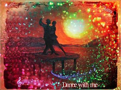 Woman Painting - Dance With Me by Vesna Martinjak