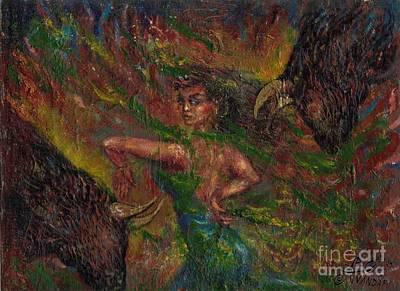 Dancer And Caw Original by Ali Divandari