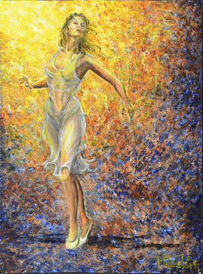 Ballet Painting - Dancer Away by Nik Helbig