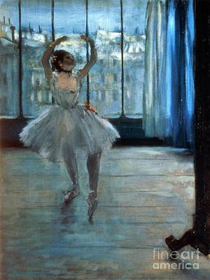 Posing Painting - Dancer In Front Of A Window by Edgar Degas