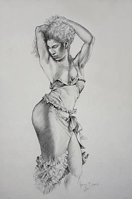 Dancer Muse Study Original by Harvie Brown
