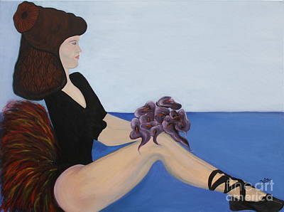 Dance Floor Painting - Dancer With Calla Lillies by Jolanta Anna Karolska