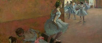 1886 Painting - Dancers Ascending A Staircase by Edgar Degas
