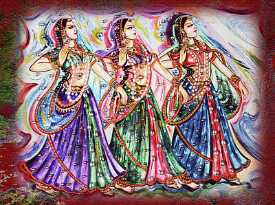 Religious Painting - Dancers by Harsh Malik