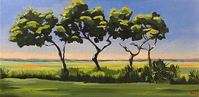 Painting - Dancing Along The Marsh by Karen Macek