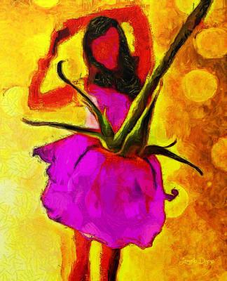Dancer Painting - Dancing Days - Pa by Leonardo Digenio