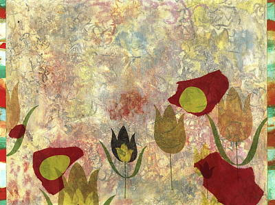 Nature Abstract Mixed Media - Dancing Flowers by Gloria Von Sperling