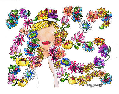 Dancing Flowers Original by Shelley Wallace Ylst