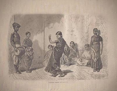 Dancing Girls At Bombay Original by Angela Lautin