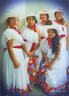 Mexican Fiesta Photograph - Dancing Holiday Beauties by Janice Rae Pariza