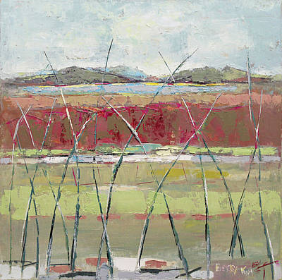Becky Kim Artist Painting - Dancing In The Field by Becky Kim