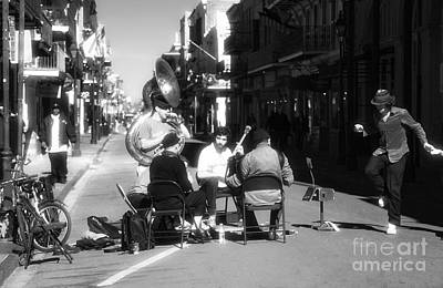 Jazz Band Photograph - Dancing In The Streets by John Rizzuto
