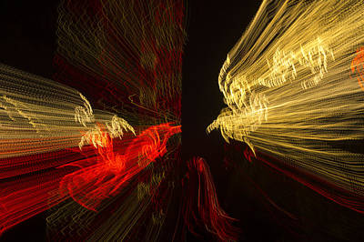 Observer Photograph - Dancing Lights 2 - Up Against A Barrier by Penny Lisowski
