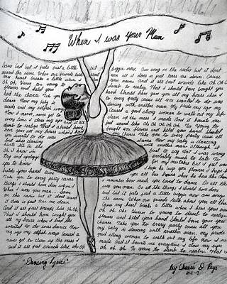 Dancing Lyrics Print by Chenee Reyes