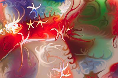 Van Goh Painting - Dancing Stars by Omaste Witkowski