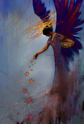 Angel Blues Digital Art - Dancing The Lifes Web Star Gifter Does by Stephen Lucas