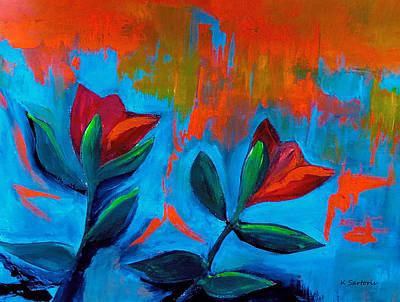 Tulips Painting - Dancing Tulips by Kathleen Sartoris