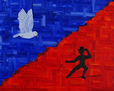 Dance Mixed Media - Dancing With A Bird by Manuel Sueess