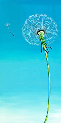 Dandelion Painting - Dandelion by David Junod