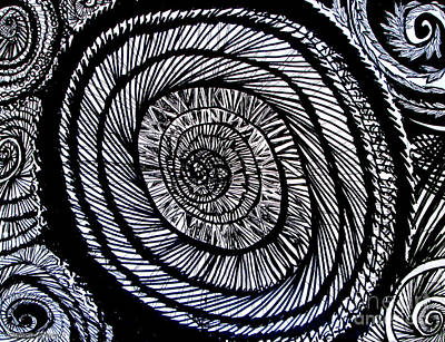 3d Dandelion Study Print by Stephanie  Skeem