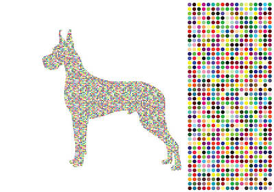 Great Dane Digital Art - Dane Dots by Brian Kirchner