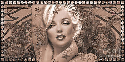 Marilyn Monroe Digital Art - Danella Students 2 Sepia by Theo Danella