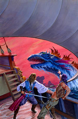 Dangerous Seas Original by Richard Hescox