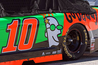 Danica Patrick Go Daddy Race Car Print by Juergen Roth