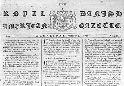 Danish West Indies 1772 Print by Granger