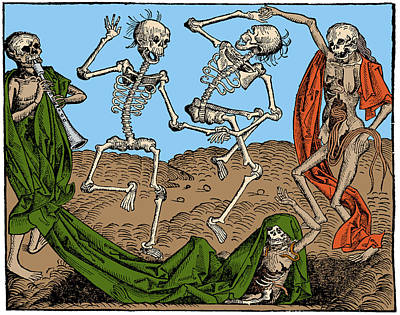 1493 Photograph - Danse Macabre 1493 by Science Source
