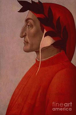 Literature Painting - Dante by Sandro Botticelli