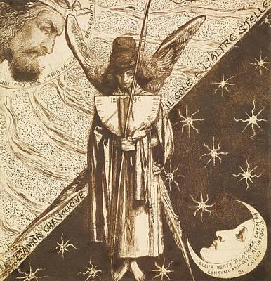 Amor Drawing - Dantis Amor  by Dante Gabriel Rossetti