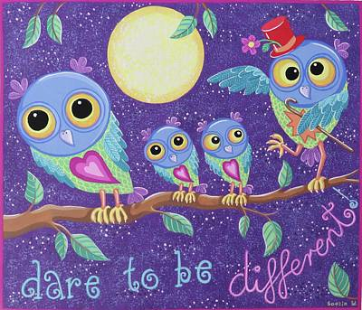 Dare To Be Different Print by Soozie Wray