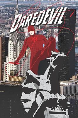 Ben Affleck Digital Art - Daredevil by Troy Arthur Graphics
