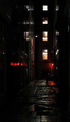 Dark Alley Print by Michael Derez